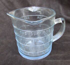 Fire King sapphire blue measuring cup three spouts Oven ware FireKing