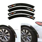 4Pcs RALLIART Rubber Carbon Fiber Car Wheel Eyebrow Fender Arch Trim Stickers