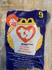Ty Teenie Beanie, Bones, McDonalds Series 9, New in Sealed Bag