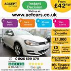 2016 WHITE VW GOLF 16 TDI 110 MATCH EDITION DIESEL 5DR CAR FINANCE FR 42 PW