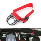 Car Hanger Bag Purse Cloth Holder Hook Strap Accessories For Jeep Wrangler Red