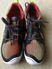 Plae Miles Youth Size 4 Electric Lime Lace Up Sneaker Black Red Yellow NEW