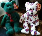 Lot of 2 TY beanie baby bears Wallace and Jack UK Scotland bear beanie babies