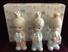 Precious Moments Nativity WEE THREE KINGS E 5635 with Box 1981 Triangle EUC