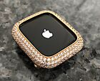 Series 4 5 in 44mm Yellow Gold Lab Diamond Apple Watch Bezel Case Cover iwatch