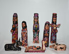 Guatemala Nativity Set Christmas Hand Carved Wood Chichicastenago 12 NEW UNIQUE