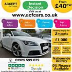 2012 WHITE AUDI TT ROADSTER 18 TFSI 160 S LINE PETROL MAN CAR FINANCE FR 40 PW