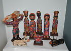 Guatemala Nativity Set Christmas Hand Carved Wood Chichi 12in NEW UNIQUE Christm