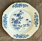 Antique Chinese Export Porcelain Dinner Plate Blue  White 9 No Reserve