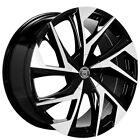 4ea 22 Staggered Lexani Wheels Ghost Gloss Black Machined Rims S5