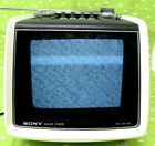 Vintage Sony Solid State Portable TV White