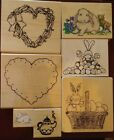 RUBBER WOOD MOUNTED STAMPS Wide Variety of Scrapbooking Card Making Themes