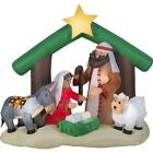 Christmas Decoration Outdoor Airblown Inflatables Holy Family Nativity Scene