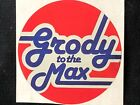 1 VINTAGE 80S SANDY LION FOIL GRODY TO THE MAX STICKER 1 1 2 x 2 RARE BROWN