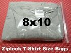 Large Reclosable Seal-top Clear Ziplock Big Clothing Merchandise Storage Bags