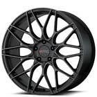 4ea 19 KMC Wheels KM713 Alkaline Phantom Black Rims S3