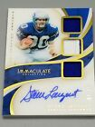 STEVE LARGENT 2019 Immaculate 2-COLOR TRIPLE Patch AUTO Relic # 49