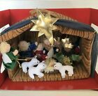 Plush Nativity Play Set 12 Pieces Christmas with Carrying Handle New in Box