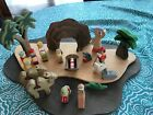 20 Piece WOODLAND FANTASIES WOOD CRECHE NATIVITY Christmas ORIGINAL BOX Set