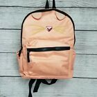 T shirt  Jeans Cat Face Graphic Large Dome Backpack peach pink glitter NWT 58