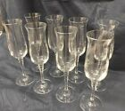Vintage TOWLE Crystal Champagne Flutes Silhouette set of 8