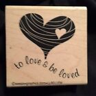 Seesaw Grapics Retro Heart Stamps Wood  Rubber 2 1 2 x 2 1 2