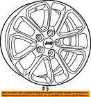 Jeep CHRYSLER OEM 2018 Grand Cherokee Wheel Alloy Aluminum 5XK99XZAAB