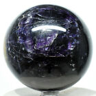 3 Deep Purple Fluorite Sphere Natural Crystal Sparkling Mineral Stone Chin