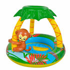 Pool Central 40 Inflatable Baby Pool Palm Tree Sun Shade Monkey