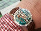 1971 Bulova Accutron Spaceview White Gold Watch 214 Red Second hand Running Gr8t