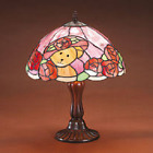 Boyds Bears Evening Rose Glowscapes Porcelain Lamp
