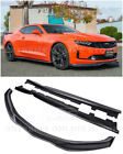 T6 Style Front Lip CARBON Side Splitter  Side Skirts For 19 Up Camaro RS  SS