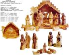 Faceless Olive Wood Nativity Set