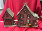RARE Lemax Harvest Crossing Village ~ BLUEBIRD ACRES (set of 2) ~ In Box