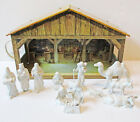 Marx Tin LIthograph Light Up Nativity Cheche With Figures