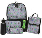 MInecraft Kids Official Minecraft Backpack 5 Piece Mega School Set