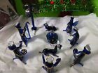 NATIVITY SET IN BLOWN GLASS Made in Peru VARIETY OF COLORS SET OF 11 PIECES