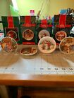 Collectible Hallmark Collector's Plate Ornaments 1989,1990,1991,1992