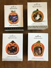 Lot of 4 Hallmark Happy Halloween! Ornament 1st, 2nd, 4th and 7th in Series New