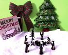 NATIVITY SET IN BLOWN GLASS Made in Peru COLORS BLACK SET OF 11 PIECES