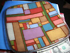 Peggy Karr Fused Glass Geometric Colored Blocks Rectangles Decorative Plate