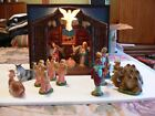 1950s Royal Electric 900 Musical Illuminated Nativity w 12 Italian Figurines