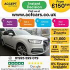 2017 WHITE AUDI Q7 30 TDI 272 QUATTRO S LINE DIESEL AUTO CAR FINANCE FR 150 PW