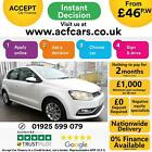 2016 WHITE VW POLO 10 60 SE PETROL MANUAL 5DR HATCH CAR FINANCE FR 46 PW