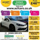 2014 WHITE VW SCIROCCO 20 TDI 140 BMT DIESEL 2DR COUPE CAR FINANCE FR 46 PW