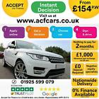 2016 WHITE RANGE ROVER SPORT 30 SDV6 HSE DIESEL AUTO CAR FINANCE FR 154 PW