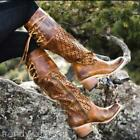 FAST SHIP MINT 295 SZ 6 FREEBIRD BY STEVEN CREEK COGNAC PERFORATED TALL BOOTS