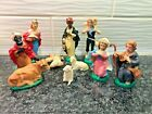 Vintage Nativity Replacement Set Hong Kong Plastic Mary Joseph Shepherd Sheep