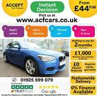 2013 BLUE BMW 125D 20 M SPORT DIESEL AUTO 3DR HATCH CAR FINANCE FR 44 PW