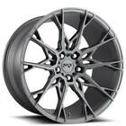 4ea 22 Staggered Niche Wheels M182 Staccato Anthracite RimsS6